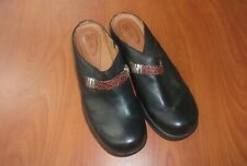 Ariat Western Black Leather Womens Slip On Clogs Shoes 9.5
