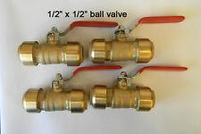 4  Sharkbite Style push fit 1/2 inch Ball valve
