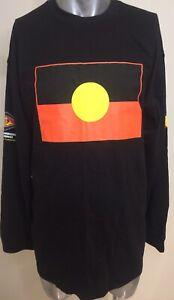 Aboriginal Australia Indigenous Tri Colour Flag Long Sleeve T-Shirt 3XL New