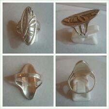 Langer Silberring 925er Silber Ring Silberschmuck mit Muster