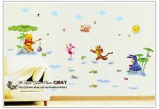 New Winnie The Pooh Removable Wall Sticker Vinyl Decal Baby Kids Nursery Decor