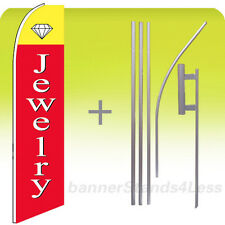 Jewelry Swooper Flag Kit Feather Flutter Banner Sign 15' Tall - rb