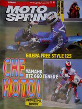 Motosprint 19 1991 Italiano Cross 250. Prova Yamaha XTZ 660. Gilera 125 [Q78]