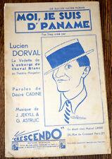 moi je suis d'Paname fox-trot chant et orchestre restreint 1937 Jekill & Astruc
