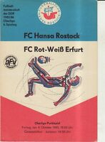 OL 85/86  FC Hansa Rostock - FC Rot-Weiß Erfurt