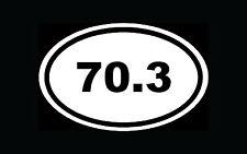 70.3 Ironman Sticker Triathlon Oval Window Decal Vinyl White Euro Marathon Run
