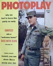 1960 Elvis Presley Photoplay Magazine Cover Refrigerator Magnet
