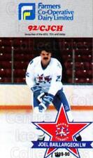 1989-90 Halifax Citadels #1 Joel Baillargeon