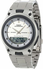 Casio AW-80D Original New  White Databank World Time Steel Band Watch AW-80D-7AV