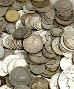 $1 Face In US 90% Silver Coins! Walkers, Mercury Dimes Kennedys Etc!