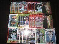 Huge Lot of (25) Rickey Henderson Baseball Cards Athletics