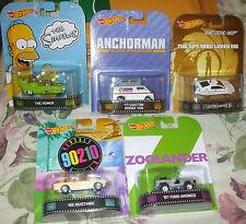 2014 Hot Wheels 5pc Complete Set of  Retro Entertainment Vehicles The Simpsons