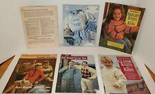 6 Soft Cover Vintage Crochet Books Magazine Debbie Bliss Bear Brand Country Baby