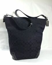COACH 6083 XL BLACK Legacy Tote Bag Carryon Laptop Diaperbag Duffle Sac FABULOUS