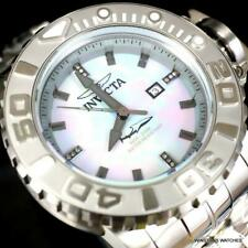 Invicta Sea Hunter Gen II Platinum MOP Steel Automatic Diamond 58mm Watch New