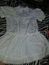 Vintage Girls 80's Dresses size 6x White