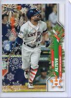 2020 Topps Holiday Baseball HW138 Jose Altuve - Short Print