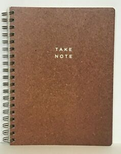 Fringe Studio NOTE CORK Spiral Notebook 192 Lined Pages New