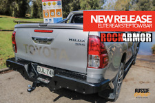 TOYOTA HILUX 2015-2018 ROCKARMOR ELITE REAR STEP TOW BAR SIDE AIRBAG COMPATIBLE