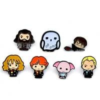 Harry Potter character set, 7 NEW chibi lapel pin badges Australian seller