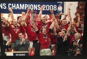 RYAN JONES - WALES RUGBY - BRITISH LIONS - HAND SIGNED AUTOGRAPH 12X8 PHOTO