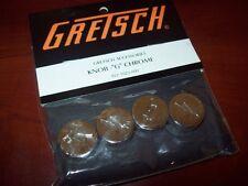 """NEW - Genuine Gretsch """"G"""" With Arrow Knobs (4) - CHROME, 922-1023-000"""