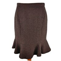 Kew 159 Jigsaw Size 10 Grey Pink Wool Blend Fishtail Skirt Knee Length Winter