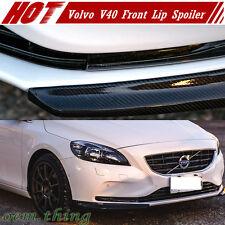 Carbon Fiber For VOLVO V40 Hatchback Front Bumper Lip Spoiler 2 Pcs 11+