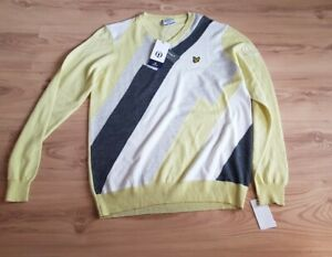 Lyle & Scott Pullover Neu Gr. L Wolle NP 105€ Sweatshirt Oberteil