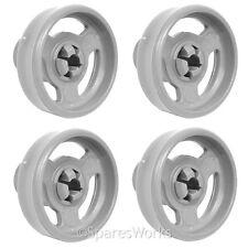 4 x Genuine Kenwood Lower KDW8ST2A KDW6X10 Basket Rack Wheel Dishwasher Wheels