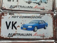 VK HDT SS COMMODORE HOLDEN Number Plate Style 3D Tin Metal Sign NEW Man Cave