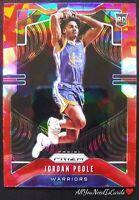 Jordan Poole Rookie Card 2019-20 Panini Prizm Basketball Red Cracked Ice RC #272