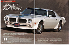 1972 PONTIAC FIREBIRD TRANS AM 455 HO ~ NICE 6-PAGE ARTICLE / AD