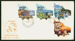 MayfairStamps Cover 1978 Combo 50 Years Scouting Norfolk Island 1978 First Day C