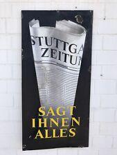 XL Stuttgarter Zeitung Emailleschild Stuttgart Reklame Schild Werbung RAR