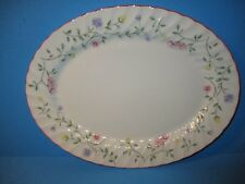 "Johnson Brothers Summer Chintz Oval Serving  Platter 11 3/4"" Floral Flowers"