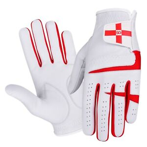 PACK OF 5 SG Men Cabretta Leather Golf gloves England Scotland Logo Great Value
