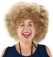 Blonde Afro Costume Wig Foxxy Cleopatra Wig for Men and Women 70's and Funky