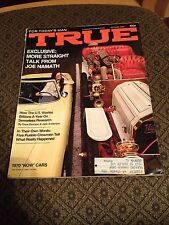 """True October 1969 (For Today's Man) Joe Namath & 1970 """"Now Cars"""" (Make an Offer)"""