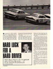 1964 MARVIN PANCH / NASCAR DRIVER ~ ORIGINAL 3-PAGE ARTICLE