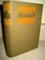 The Riddle Walter De La Mare Stories 1st Edition 2nd Printing Fiction 1923