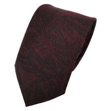 Schicke Krawatte rot weinrot dunkelrot schwarz gemustert Glitzer - Tie Binder