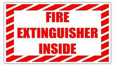Fire Extinguisher Inside Safety Decal Sticker Label Sign Industrial Free Ship
