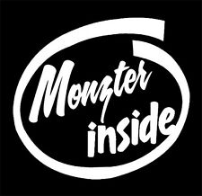 Monzter Inside Decal Sticker,walking dead zombie,living dead,horror movie