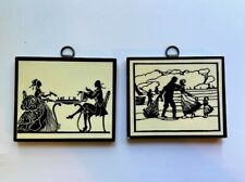 ❤️STORAGE UNIT SALE: 2 small Vintage Victorian Silhouette pictures