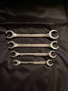 """SK S-K Tools USA SAE 4-Piece Flare Nut Line Wrench Set Chrome 3/8"""" - 7/8"""" New"""