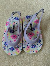 Old Navy Baby Girl Purple Sandals Size 4 Spring Summer