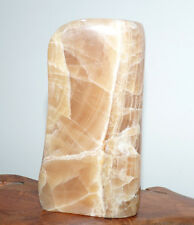 Beautiful Honey Calcite Crystal Freeform. Free Standing Display Stone. 612g.