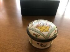 Halcyon Days small trinket box 1983 V&A London Replica of an 18th English enamel