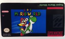 Super Mario World SNES Cartridge Replacement Game Label Sticker Precut